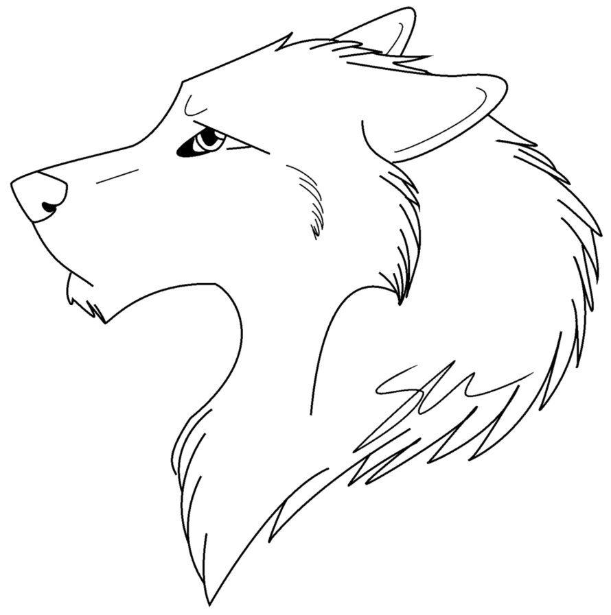 Cabeza de lobo para colorear :: Imágenes y fotos