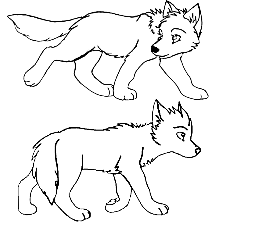 Galería de imágenes: Dibujos de lobos para colorear