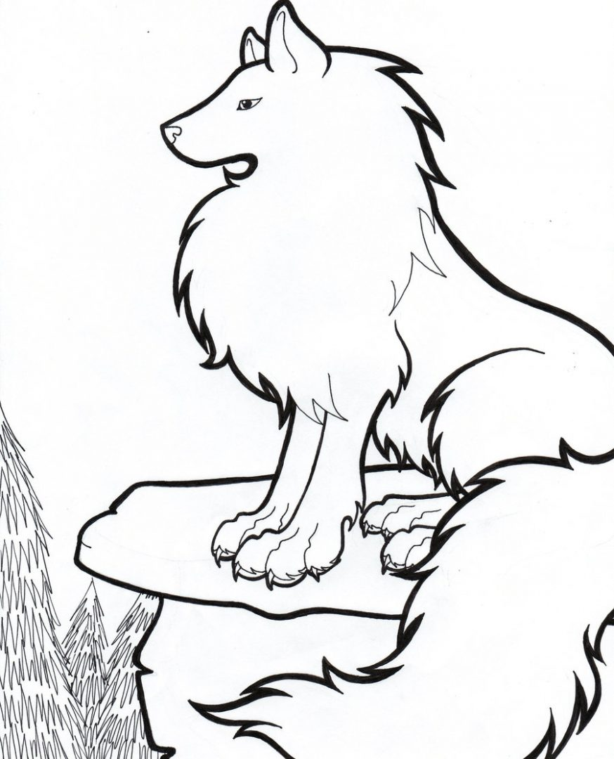 Dibujos de lobos para pintar :: Imágenes y fotos